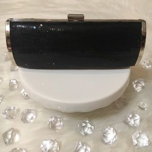 STYLE & CO  BLACK SEQUIN CLUTCH